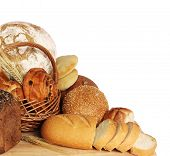 stock photo of bread rolls  - large variety of bread - JPG