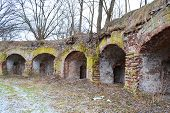 stock photo of brest  - The ruins of the Eastern fort in Memorial complex  - JPG