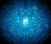image of computer technology  - circuit board vector background - JPG