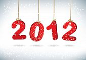 stock photo of new years celebration  - Happy New Year 2012 greeting card - JPG