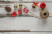 Christmas, Set Of Items, Items For Creating Christmas Gifts poster