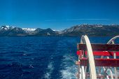 Lake Tahoe Is A Freshwater Lake In The Sierra Nevada Of The United States. It Straddles The State Li poster