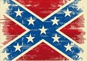 stock photo of confederate flag  - Confederate flag A background for a poster - JPG