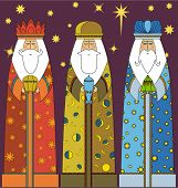 picture of three kings  - Christmas - JPG