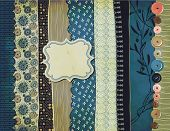 image of gypsy  - Gypsy Background with patterned scraps - JPG