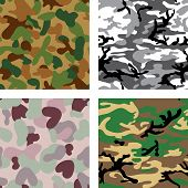 pic of camo  - Set of camouflage seamless pattern  - JPG