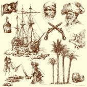 stock photo of pirate flag  - pirates - JPG