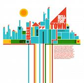 abstract town - geometric compositon