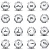 Set of weather metallic icons