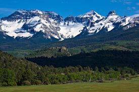 stock photo of mountain-range  - Scenic Vista of Mt - JPG