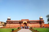 stock photo of mughal  - Agra Red Fort - JPG