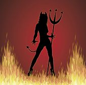 stock photo of she devil  - illustration of Halloween She - JPG