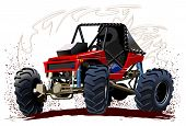 stock photo of buggy  - Vector Cartoon Buggy - JPG
