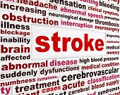 stock photo of neurology  - Stroke medical warning message - JPG