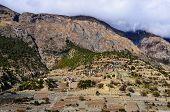 Himalayas Mountain Village Upper Pisang, Annapurna Area poster