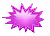 pic of starburst  - Pink burst vector icon isolated on white background - JPG