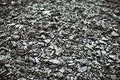 picture of combustion  - Combustion coal pile in an industrial area - JPG