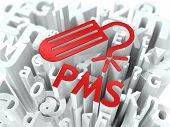 stock photo of pms  - Red PMS  - JPG