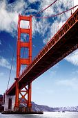 picture of golden gate bridge  - Golden gate bridge at San Francisco o - JPG