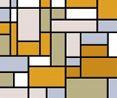 Mondrian inspiration background pastel tones poster