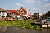 Temple At The River Mae Nam Chao Phraya In Bangkok