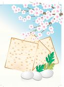 stock photo of matzah  - Jewish celebrate pesach passover with eggs - JPG