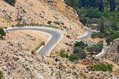 Winding Mountain Road, Rhodes, Greece
