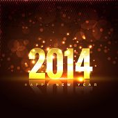 picture of happy new year 2014  - vector illustration of happy new year 2014 - JPG