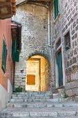 Architecture Of Rovinj, Croatia. Istria Touristic Attraction