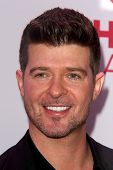 LOS ANGELES - DEC 6:  Robin Thicke at the KIIS FM Jingle Ball 2013 at Staples Center on December 6,