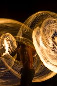 picture of phi phi  - Amazing Fire Show at night on Phi Phi Island - JPG