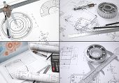 image of mechanical drawing  - Collection of images on engineering topics - JPG