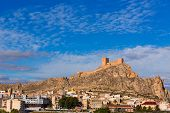 image of sax  - Alicante Sax village castle and skyline in Spain - JPG