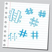 stock photo of hashtag  - Hashtags - JPG