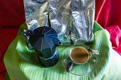 Percolator  And Coffee With Cicada poster