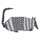 picture of armadillo  - image of an abstract style cartoon armadillo - JPG