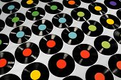 image of lps  - Colorful collection of vinyl records - JPG