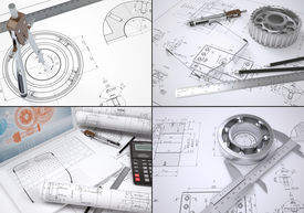 pic of mechanical drawing  - Collection of images on engineering topics - JPG