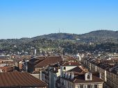 image of turin  - View of the town of Turin in Piedmont Italy