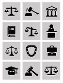 picture of magistrate  - vector black illustration of justice icon on white - JPG