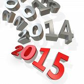 pic of happy new year 2013  - 3d Happy New Year 2015 on white background - JPG