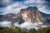stock photo of canaima  - Closeup of the highest waterfall on Earth  - JPG