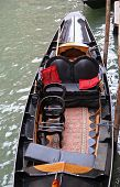 picture of gondola  - Gondola boat in canal - JPG