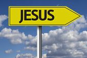 stock photo of jesus sign  - Creative sign with the message  - JPG