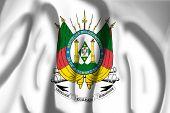 stock photo of bandeiras  - Flag of Coat of arms of Rio Grande do Sul - JPG
