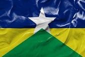 stock photo of bandeiras  - Amazing flag of the State of Rondonia  - JPG