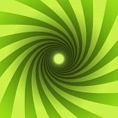 image of brainwashing  - green spiral with light at the end - JPG