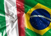 pic of bandeiras  - Flag symbolizing the relationship between Italy and Brazil  - JPG