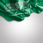 stock photo of flutter  - Waving flag of Saudi Arabia - JPG