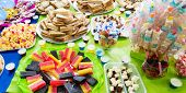 picture of reveillon  - Colorful table with many delicious for the kids - JPG